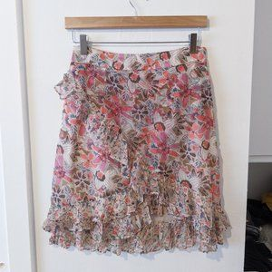 Free People Floral Around The World Skirt